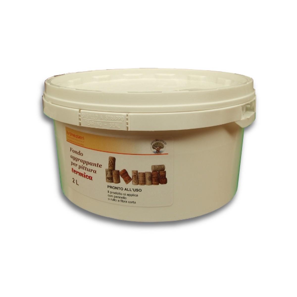Pittura Granulosa Per Cartongesso aggrappante fondo per pittura termica/ intonachino termofine