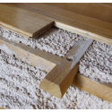 Frame in dovetail chestnut for cork screed or lightened