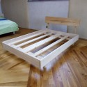 LETTI WALDEN 2 squares - 160cm - with headboard in Ash