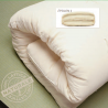 Futon en algodón y látex Epsilon grosor 15cm