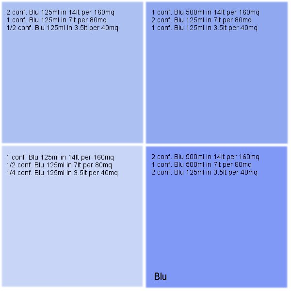 Blu per pittura traspirante Vegancolor