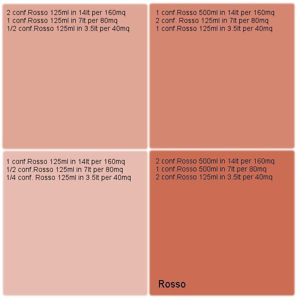 Rosso per Pittura traspirante Vegancolor