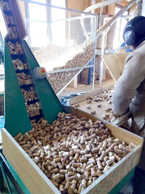 riciclare tappi di sughero - selezione
